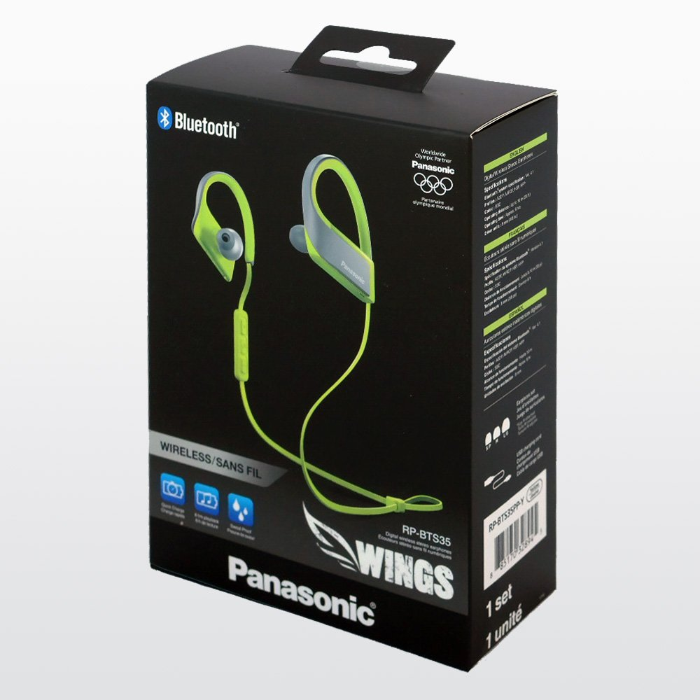 Amazon.com: Panasonic Wings Ultra-Light Wireless Bluetooth Sport Earphones Yellow (RP-BTS35-Y): Electronics