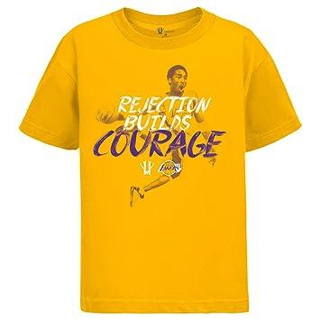 Kobe Bryant - rechazo de Builds Courage Camiseta Naranja, hombre, naranja, small: Amazon.es: Deportes y aire libre