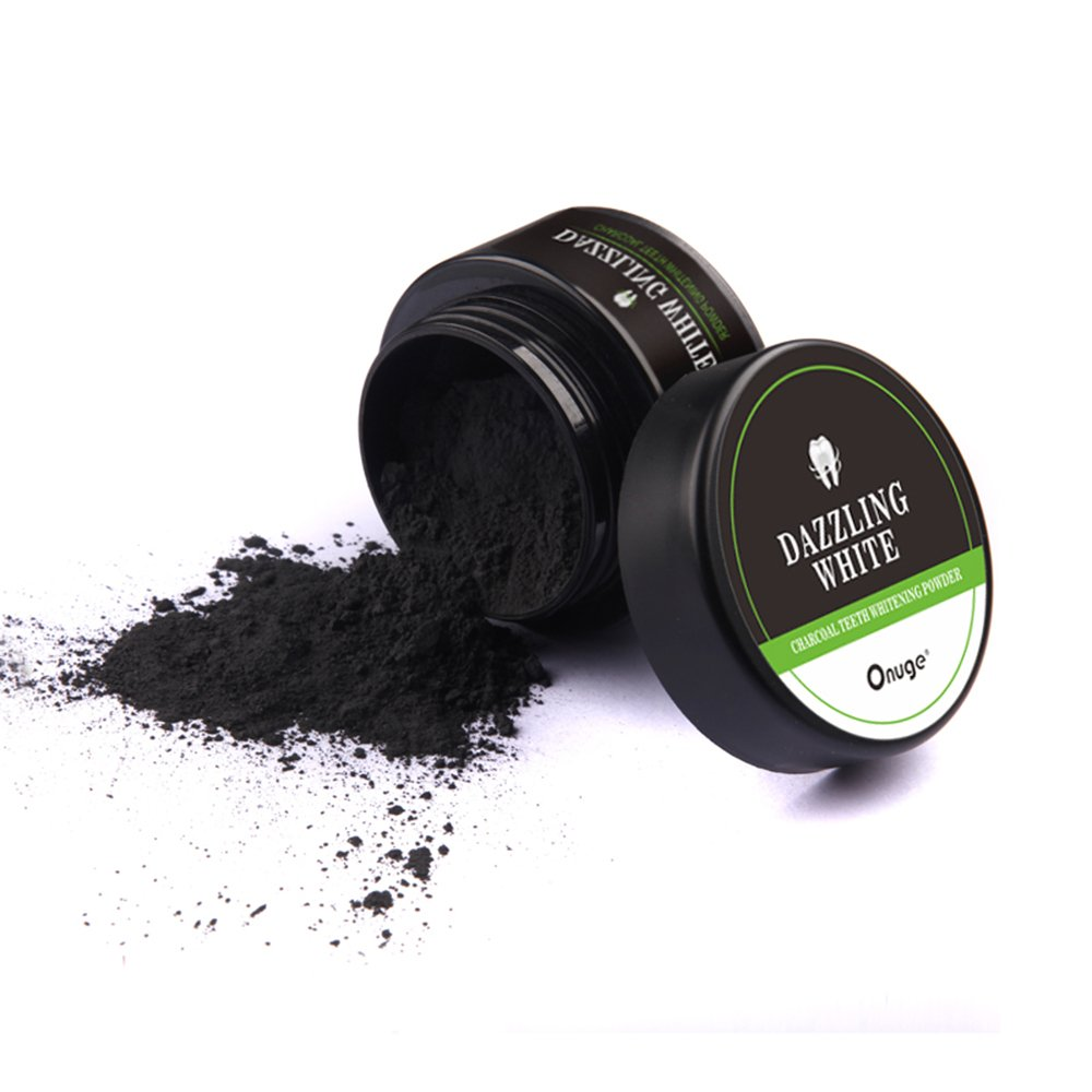 Activated Charcoal Teeth Whitening Powder, Onuge 100% Natural Nano Bamboo Dazzling White Enamel Safe Tooth Stain Remover (1.75 oz)