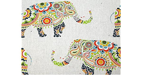 100/% Cotton Elephant print Fabric Loose Cloth Material price per yard