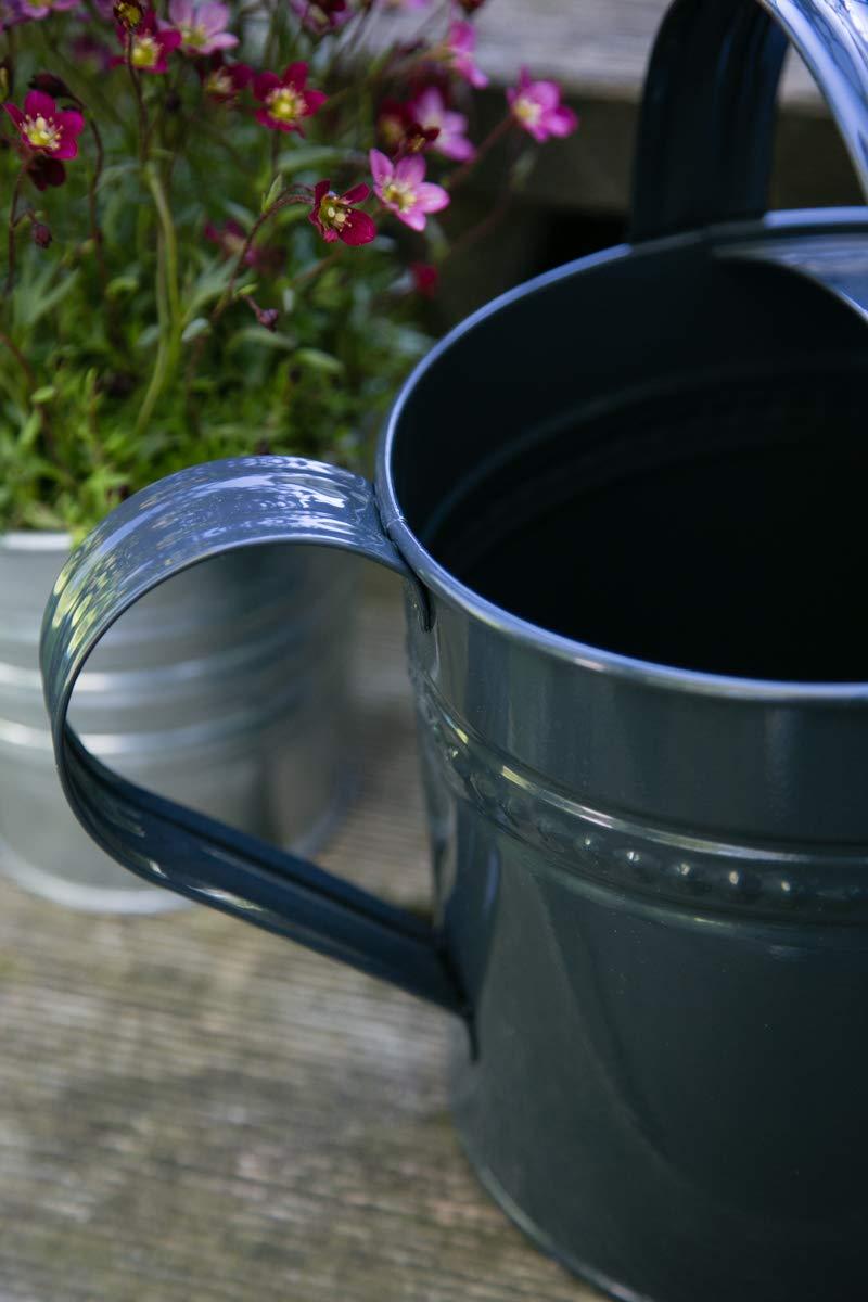 Gießkanne 6 Liter Anthrazit Metall Zinkkanne Verzinkt Kanne 7016 Giesskanne