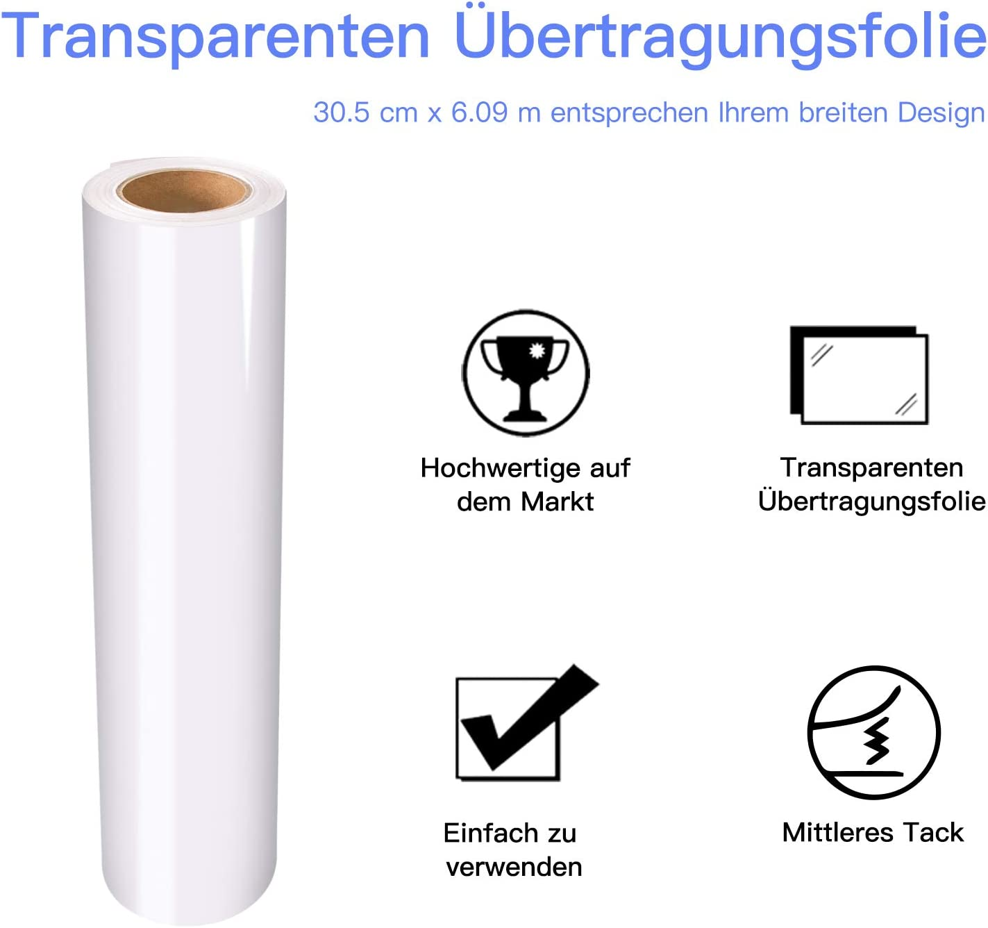 Lámina de transferencia para vinilo (30,5 cm x 6,0 m, para pegatinas, paredes, puertas y ventanas): Amazon.es: Oficina y papelería