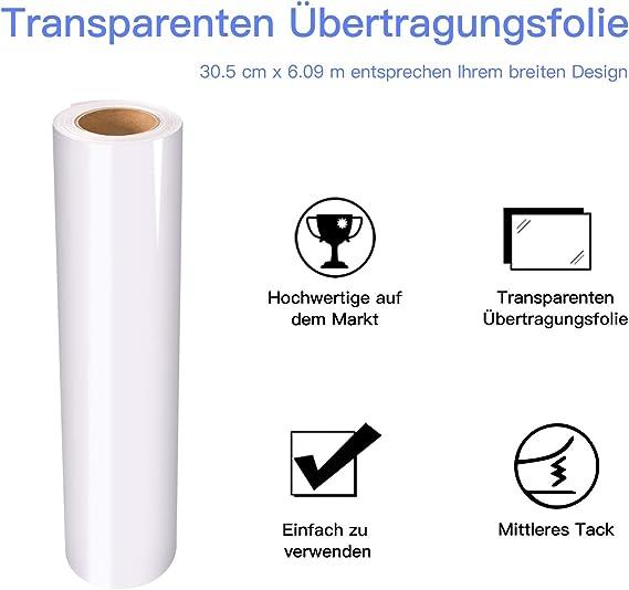 Lámina de transferencia para vinilo (30,5 cm x 6,0 m, para ...