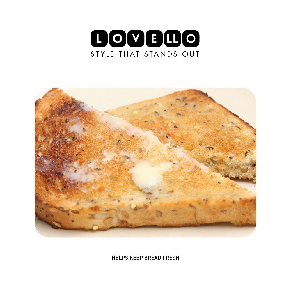 - Ice White 42 x 22 x 18 cm Kitchen Craft Lovello Textured Bread Bin with Geometric-Patterned Hexagon Design 16.5 x 8.5 x 7