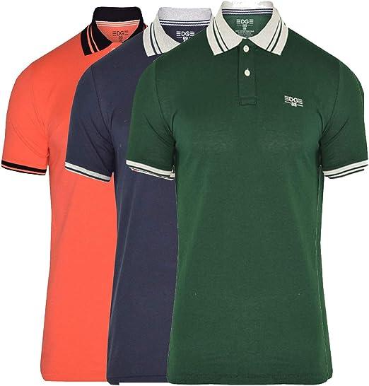 EDGE 99 - Polo para hombre, manga corta, para hombre, camisetas de ...