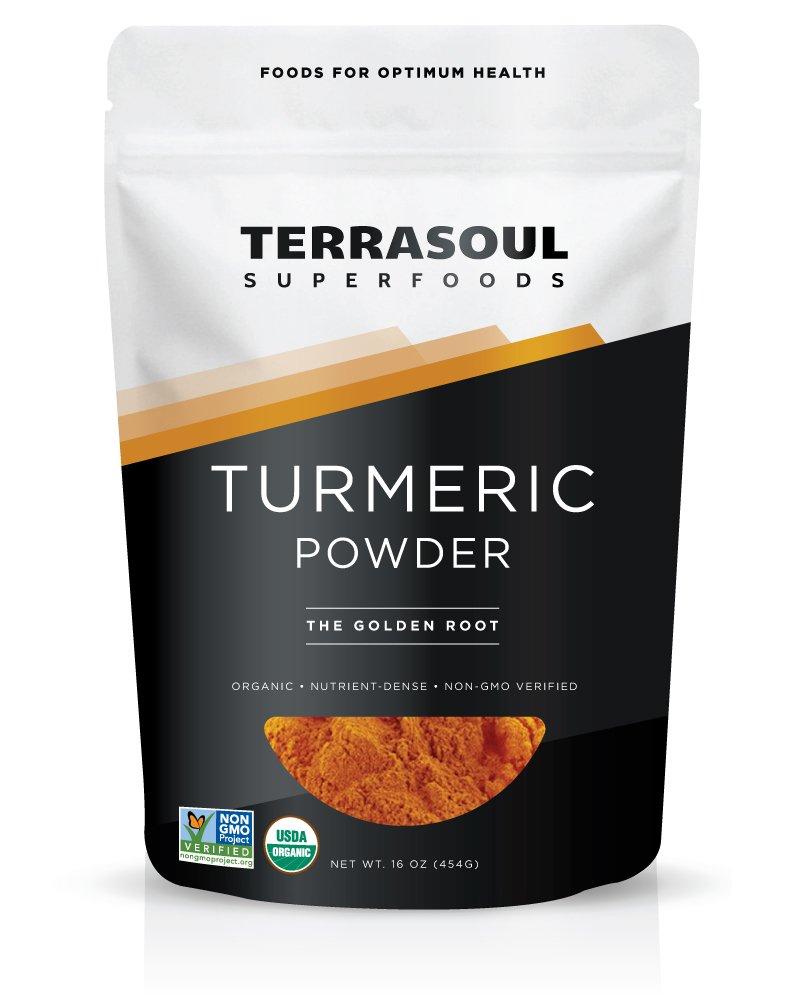 Terrasoul Superfoods Organic Turmeric Powder, 16 Ounce