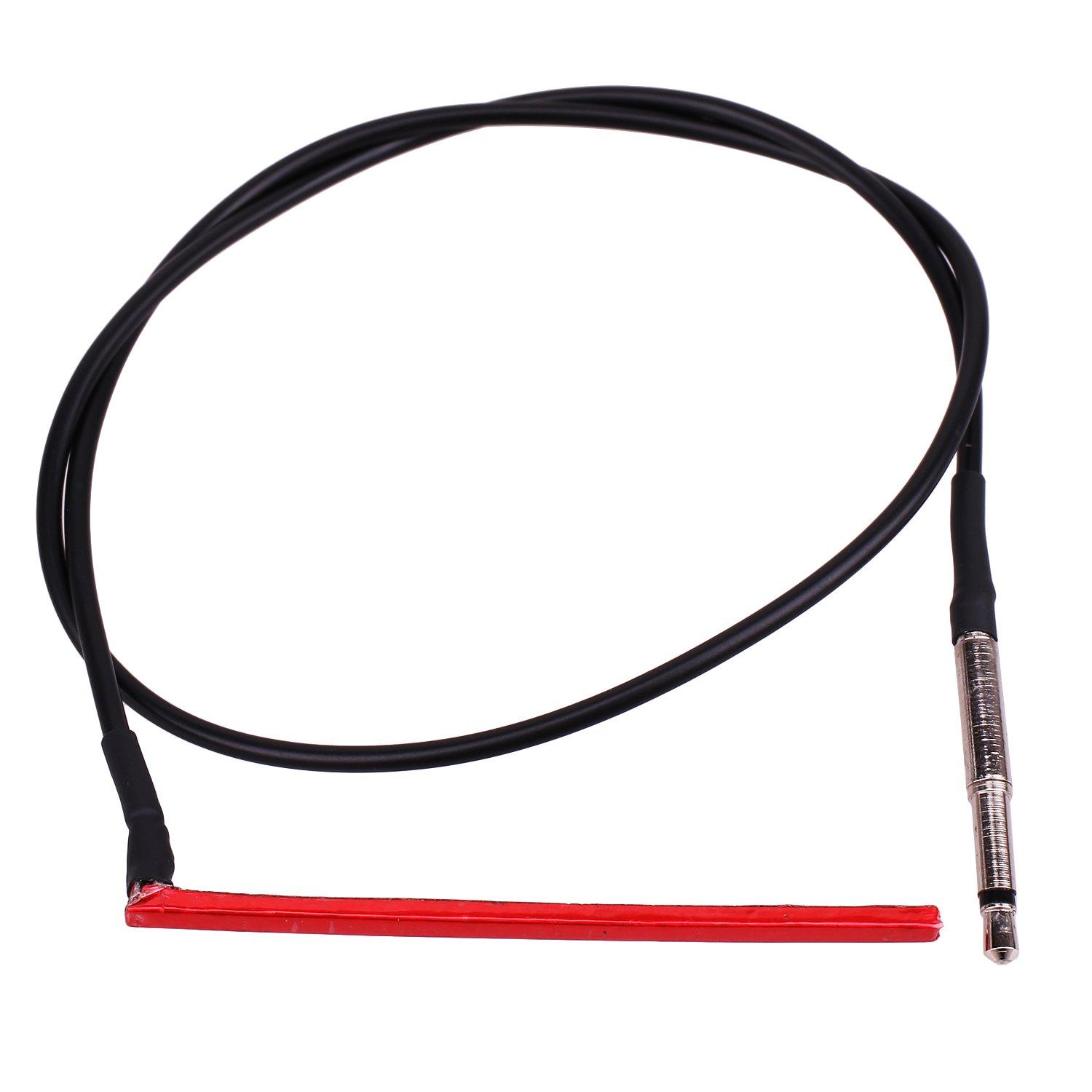 1PCS Ultrathin Red Pickup Under-Saddle Passive Piezo Film Pickup Sticks for Ukulele with Plug