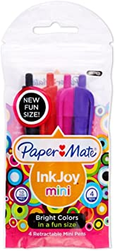 Assorted PaperMate InkJoy Gel Roller Pens Pink//Turquoise//Purple - 3 pack