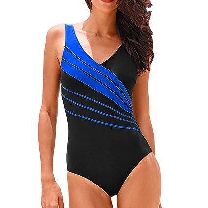 291bb90e553 Amazon.com  Peigen Women One-Piece Plus Size Bikini Tankini Sets Swimming  Costume Padded Swimsuit Push Up Swimwear  Toys   Games