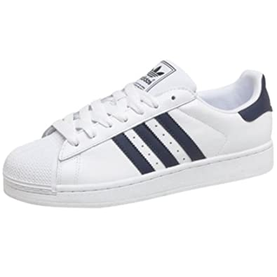 adidas Originals Herren Superstar 2 Sneakers WeißNavy Jungs