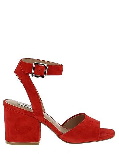 Steve Madden Red Heel Sandal  Amazon.co.uk  Shoes   Bags