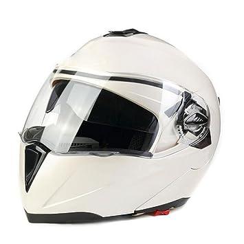 WANG-LONG Casco ABS Al Aire Libre Ligero Hombres Y Mujeres Casco De Moto De