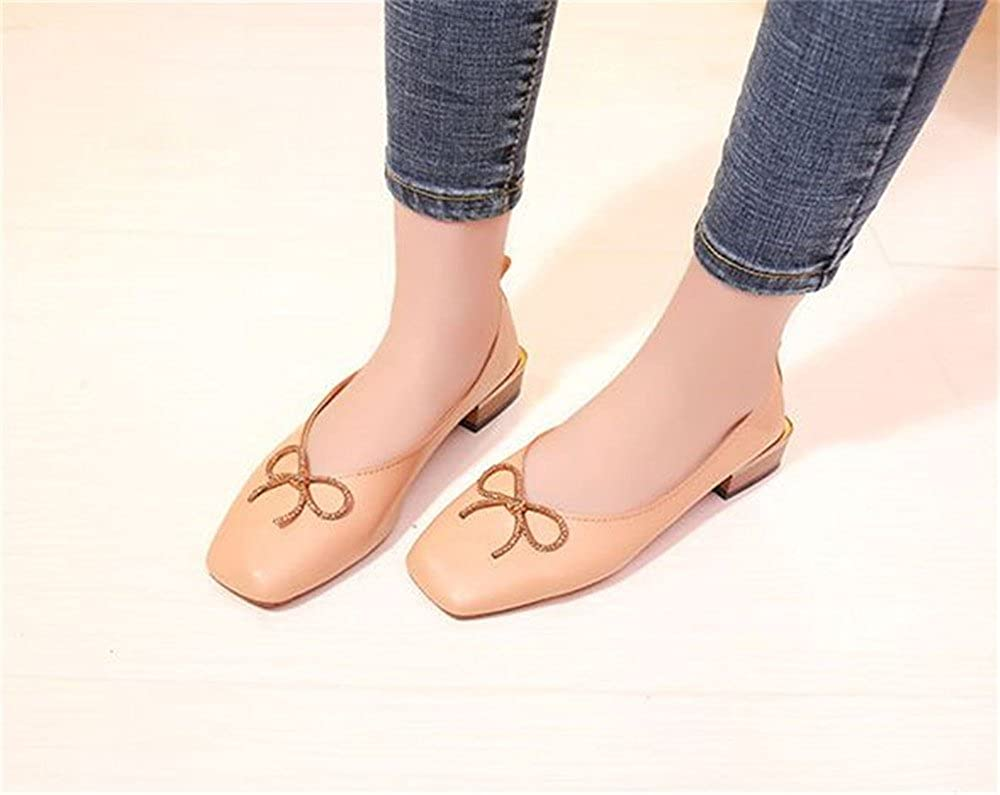 Womens Ballet Flat Comfort Light Pointed Toe Slip on Casual Shoes Bow tie