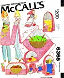 McCall's 6365 Sewing Pattern Kitchen Witch Apron Appliance Covers Potholder