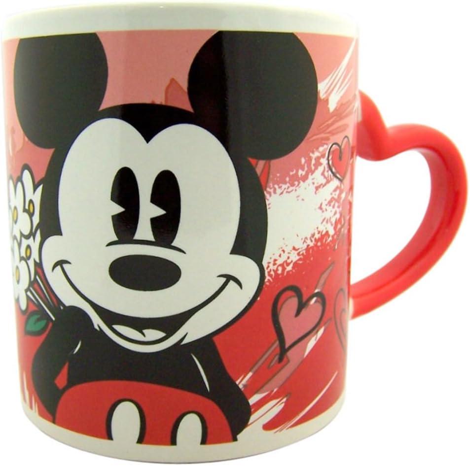 Disney's Mickey Mouse Ceramic Mug with Heart Handle, 15 oz