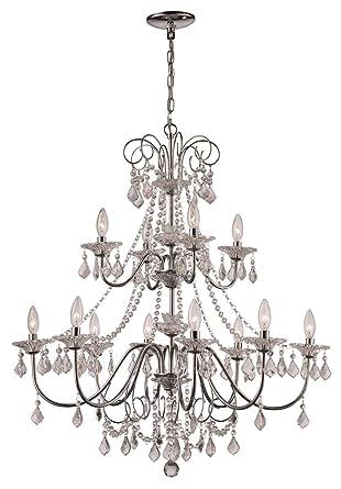 Amazon.com: Niagara 12-Light - Lámpara de araña (cromo ...