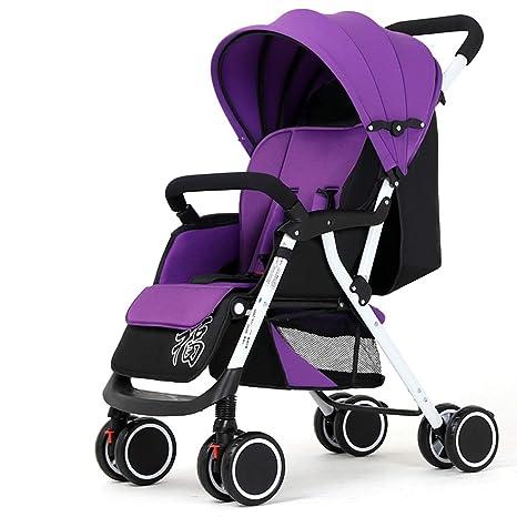 Sillas de paseo, Sillas de paseo Para bebé Uno Mano Doblez 4 Rueda Cochecito Con