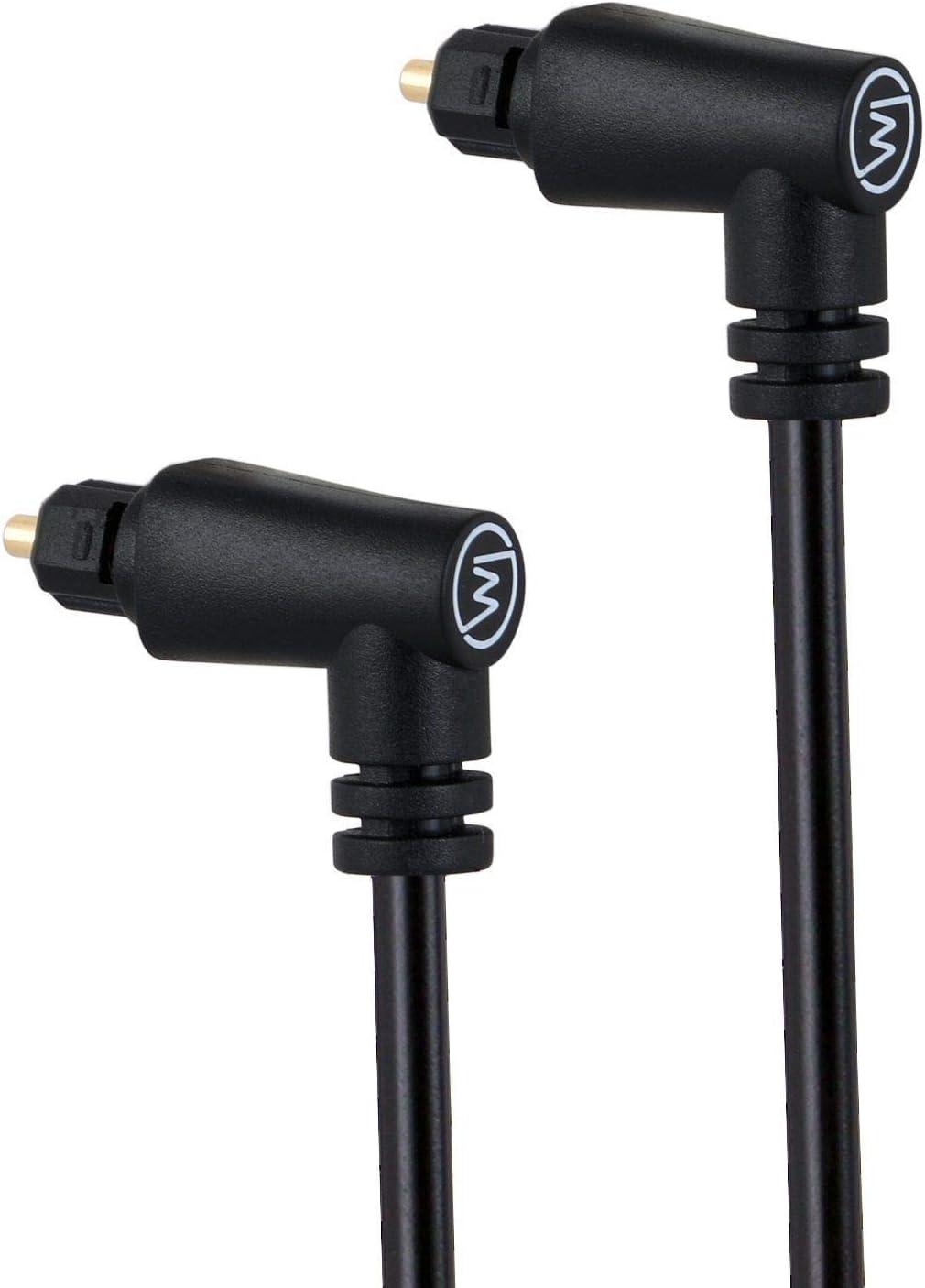 Wicked Chili Toslink Kabel 90 Abgewinkelt Digitales Elektronik