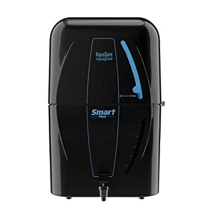 Eureka Forbes Aquasure from Aquaguard Smart Plus 6-Litres RO+UV+MTDS Water Purifier,Black