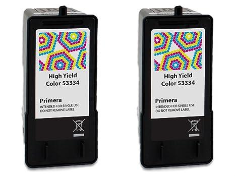 Primera 53334 High Yield Tri-Color Ink Cartridge 2-Pack