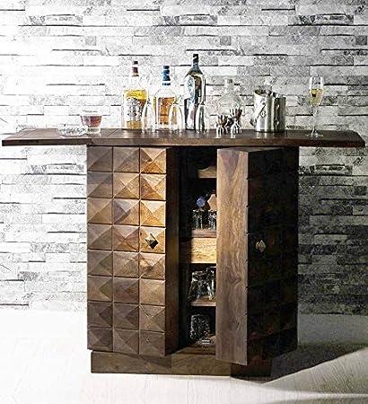 Jangir JDBF220 Bar Cabinet (Medium Glossy Finish, Walnut)