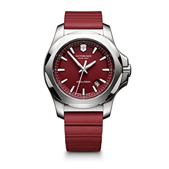 Victorinox Swiss Army I.N.O.X. Rubber Watch, 43mm, Red