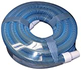 "FibroPRO Professional Swimming Pool Vacuum Hose Spiral Wound 1 1/2"" Diameter With Swivel Cuff"