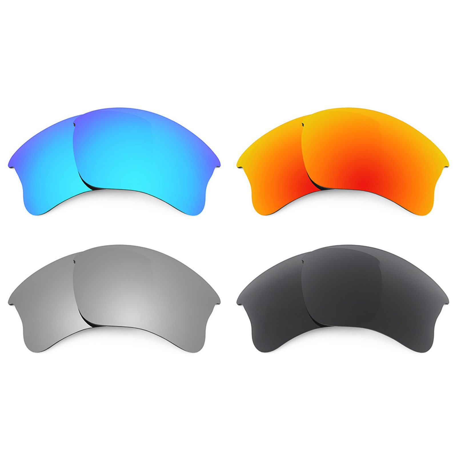 Revant Replacement Lenses for Oakley Flak Jacket XLJ 4 Pair Combo Pack K018 by Revant