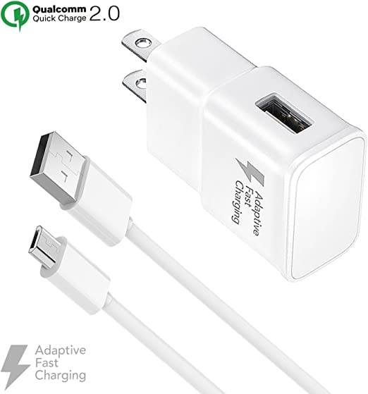 Amazon Com Ixir Adaptive Fast Charger Kit For Samsung Galaxy S7 Edge J7 S6 Edge Note 5 Note 4 Sony Htc Honor Lite 10 Moto G5 And More Wall Charger And 4 Feet