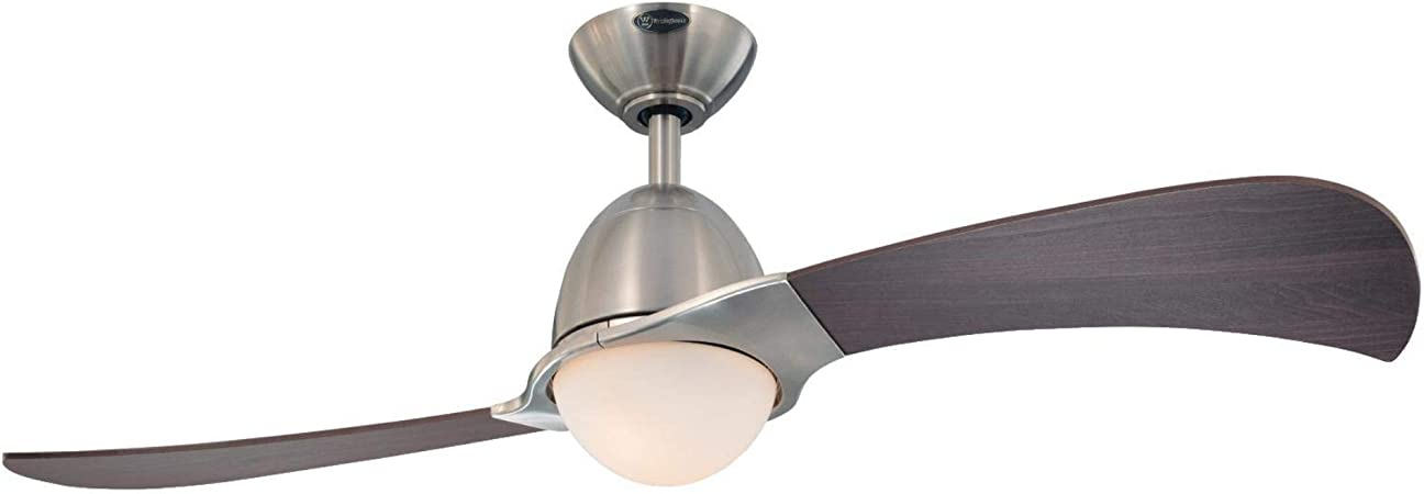 Westinghouse Lighting 7223000 Solana Indoor Ceiling Fan with Light and Remote, 48 Inch, Brushed Nickel