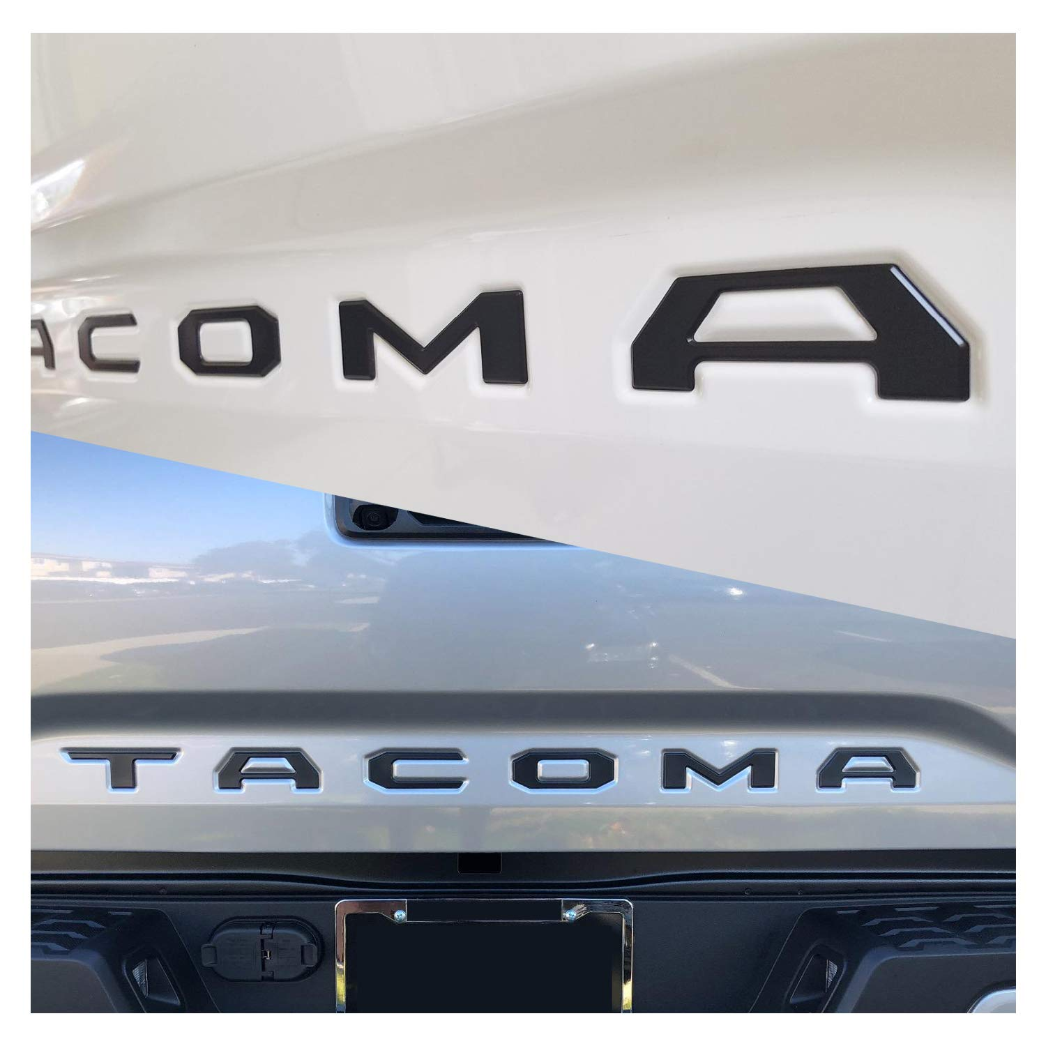 Zinc Alloy Emblem Inserts Seven Sparta Tailgate Letters for Toyota Tacoma 2016 2017 2018 3D Raised Black Letters for Tacoma