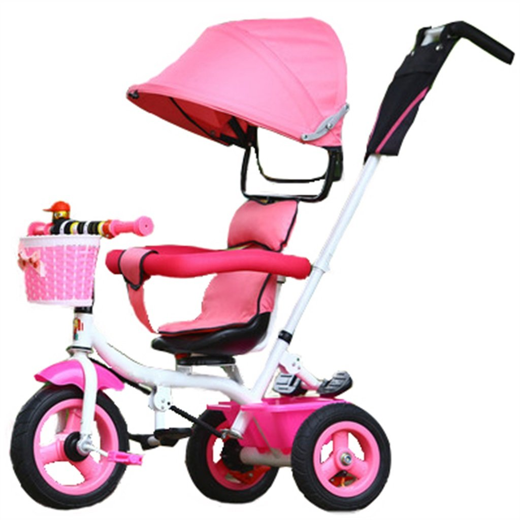 Bike Enfant intérieur de Plein air Petit Tricycle vélo Le vélo de Boy Fille vélo De 6 Mois à 6 Ans bébé Trois Roues Chariot banne