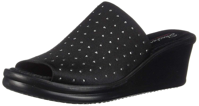 Skechers Cali Women's Rumblers Silky Smooth Wedge Sandal, Black 17, Size 9.0 Zkl