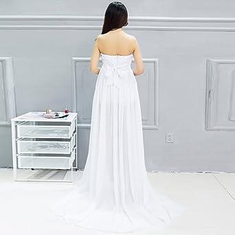 Vestido de embarazada sin manga larga de gasa Con un pantalón interior de regalo Vestido perfecto para fotografía Samber (Blanco): Amazon.es: Ropa y ...