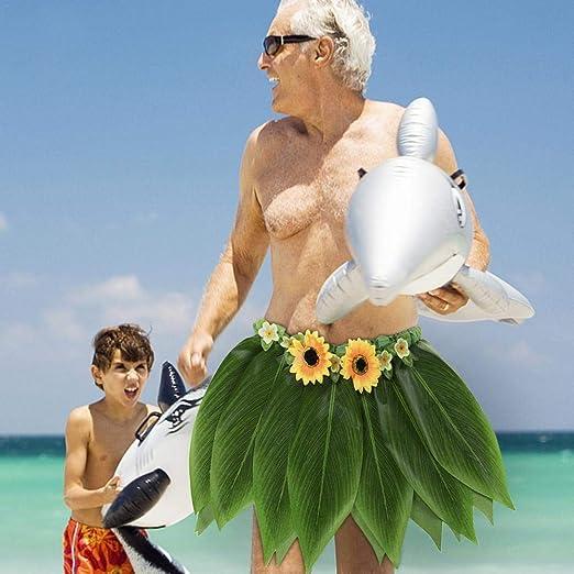 Gorgebuy Hula Skirt – Falda de Fiesta Hawaiana para Baile, Disfraz ...