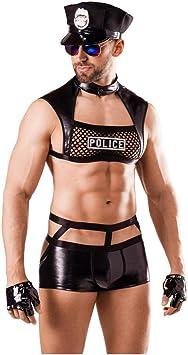 Disfraz De Policía Sexy para Hombres One Size, Pass S-L: Amazon ...