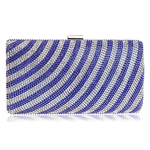 hombro rayado exquisito seoras del tarde Bolso mujeres las bolso del embrague de de FUBULE de mensajero bolso las exquisitas la Blue del awBqYOaP