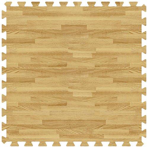 Light Oak 24 in. x 24 in. Comfortableable Wood Grain Mat