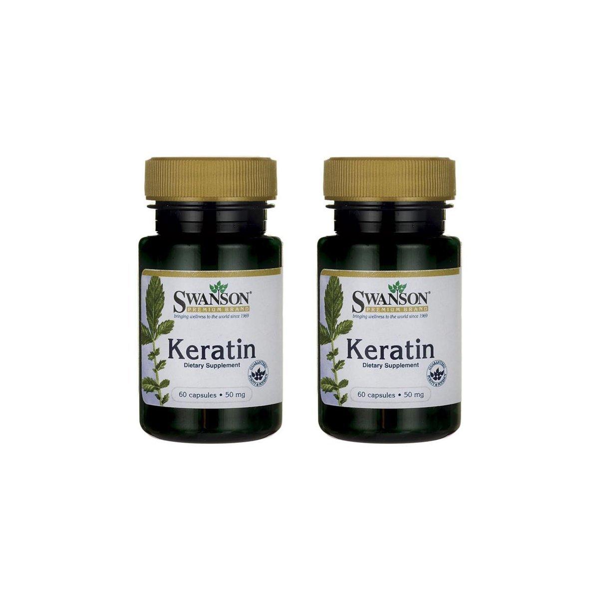Swanson Keratin 50 mg 60 Caps 2 Pack