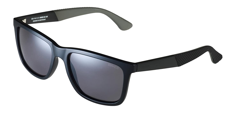 c47d50fc3a Sinner Bretton Square Sunglasses in Matte Black Sintec Polarised Smoke  flash Lens  Amazon.co.uk  Sports   Outdoors