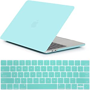 Se7enline MacBook Pro 16 Case 2019/2020 Ultra Slim Plastic Hard Shell Protective Laptop Cover for MacBook Pro 16-inch A2141 with Touch Bar Touch ID with Silicone Keyboard Cover, Turquoise Blue