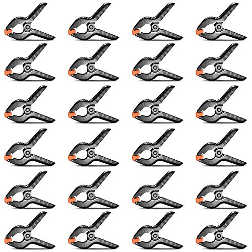 Neewer 24-pack Muslin Backdrop Spring Clamp 4.5 inches/11.4 centimeters Heavy Duty Clip for Photo Studio Photography Backgrounds, Canvas, Artwork or Home Applications by Neewer