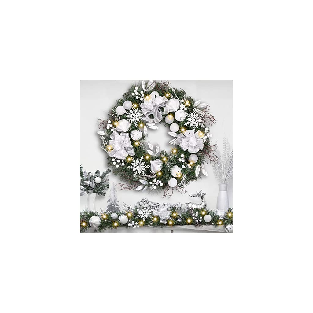 Download White Christmas Wreath