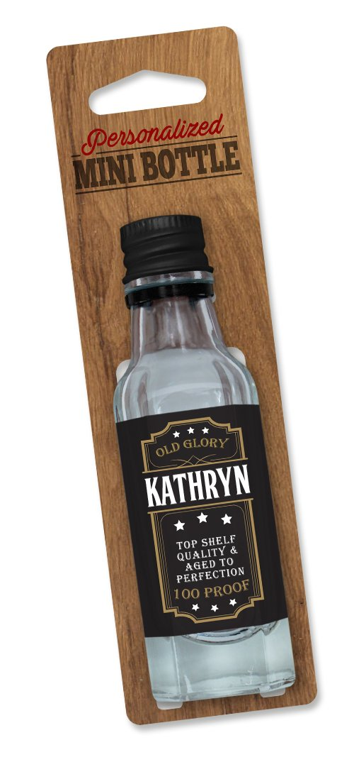 Personalized Mini Bottle Small Clear//Black Dimension 9 PMB - Kathryn DIMF0