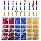 DEDC 480Pcs Insulated Wiring Terminals Wire Connectors Assortment Electrical Crimp Terminals Kit Crimp Connectors Cable Terminal