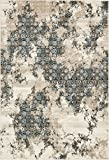 A2Z Rug Modern Abstract Beige 7′ x 10′ Monaco Collection Area rug – rugs for living room – rugs for dining room & bedroom – Floor Carpet