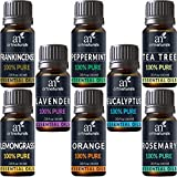 #10: ArtNaturals Aromatherapy Top 8 Essential Oils, 100% Pure of The Highest Quality, Peppermint/Tee Tree/Rosemary/Orange/Lemongrass/Lavender/Eucalyptus/Frankincense, Therapeutic Grade