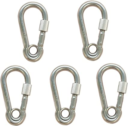 5 PC 2/'/' Stainless Steel 316 Gate Snap Hook  Carabiner Boat Rigging 400 Lbs
