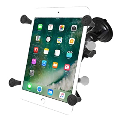 """RAM Mounts (RAM-B-166-UN8) Twist Lock Suction Cup Mount with Universal X-Grip Ii Holder for 7"""" Tablets Including The Ipad Mini 1-3: Computers & Accessories"""