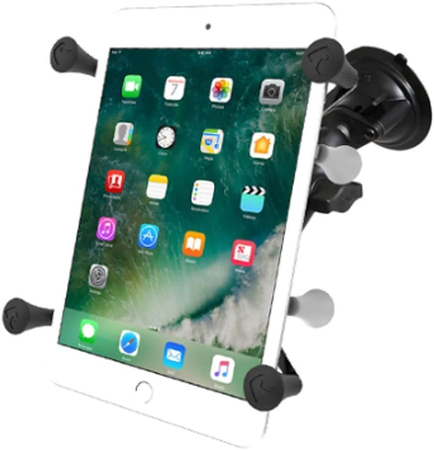 """B00A4NPJA4 RAM Mounts (RAM-B-166-UN8) Twist Lock Suction Cup Mount with Universal X-Grip Ii Holder for 7"""" Tablets Including The Ipad Mini 1-3 61wJz1Vz2pL"""